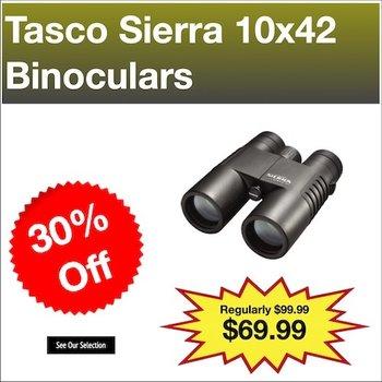Tasco Sierra Binoculars, 10x42