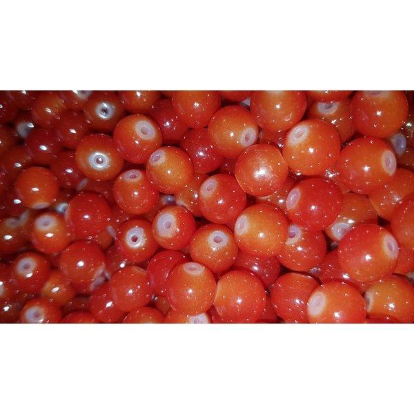 Creek Candy Beads 8mm Blood Orange #154