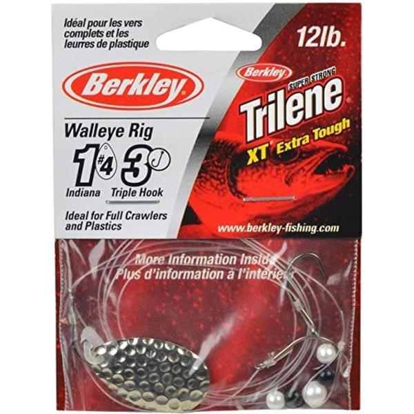 Berkley Walleye Rig Indiana #4 Triple Hook Hammered Silver (WRTHI4-HSVR)