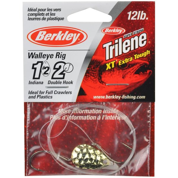 Berkley Walleye Rig Indiana #4 Double Hook Hammered Gold (WRDHI4-HGLD)