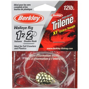 Berkley Walleye Rig Indiana #4 Single Hook Hammered Gold (WRSHI4-HGLD)