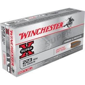 Winchester Super-X Ammo, 223 Rem 40gr Polymer Tip 3600fps 20rds