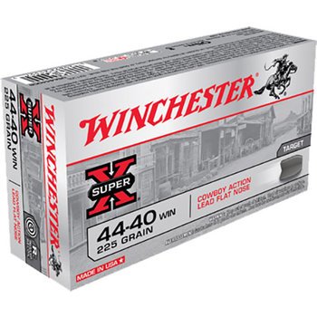 Winchester Cowboy Action Ammo, 44-40 225gr Lead Flat Nose 50rds