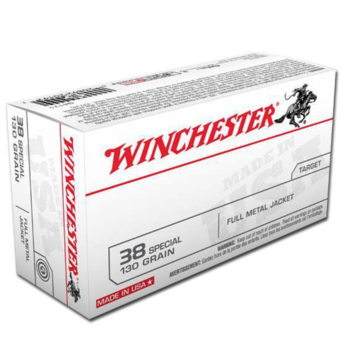 Winchester Super-X Ammo, 38 Special 130gr FMJ 800fps 50rds