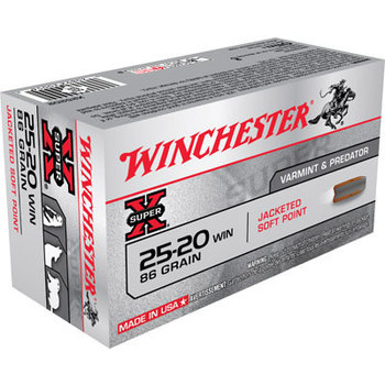 Winchester Super-X Ammo, 25-20 Win 86gr Soft Point 50rds
