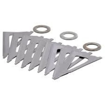 WASP ARCHERY PRODUCTS Wasp Replacement Blades for Boss 3 9Pc Pkg.