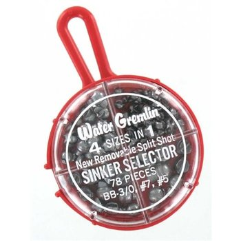 Water Gremlin 4 Sizes In 1 Sinker Selector 78-pc