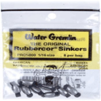 Water Gremlin The Original Rubbercor Sinkers 1/4 oz PRC-O
