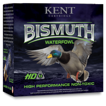 "Kent Bismuth Waterfowl Ammo, 12ga 3"" 1-3/8oz #4 Shot 1450fps Non-Toxic 25rds"