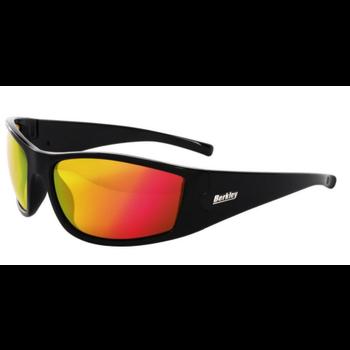 Berkley Badger Polarized Sunglasses. Gloss Black/Copper/Red Mirror (BSBADGGBCRM-H)