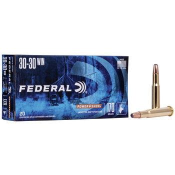 Federal Power Shok Ammo 30-30 Win 170gr Soft Point 2200fps 20 Rounds