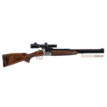 Bettinsoli Kombo Lite Combination Gun. 12ga/308 Win Over/Under Barrels