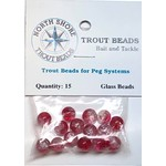 North Shore Tackle Glass Beads 8mm Glass Transparent Pink/Clear