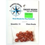 North Shore Tackle Glass Beads 8mm Glass Orange Crackle