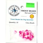 North Shore North Shore Tackle Glass Beads 6mm Glass Pink/White