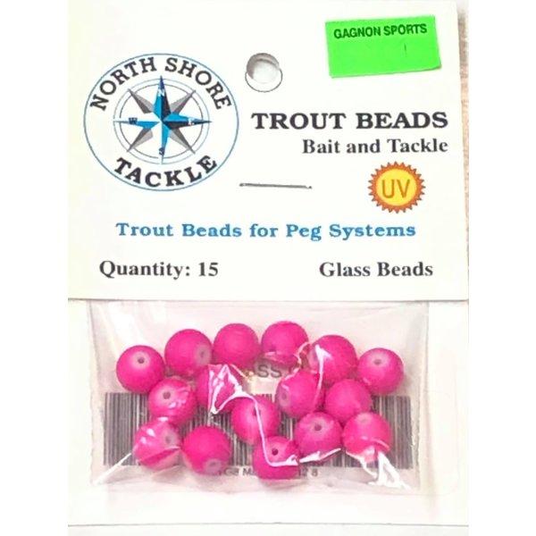 North Shore Tackle Glass Beads 8mm Glass UV Plum Neon