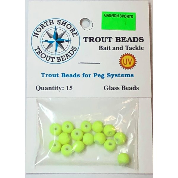 North Shore Tackle Glass Beads 6mm Glass UV Chartreuse
