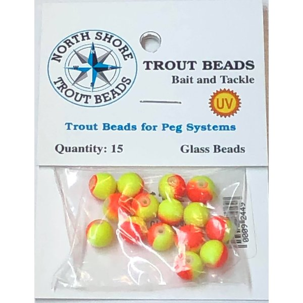North Shore Tackle Glass Beads 8mm Neon Sunset