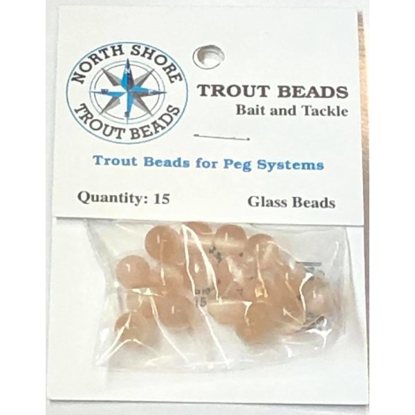 North Shore Tackle Glass Beads 8mm Glass Peach Yolk