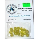North Shore Tackle Glass Beads 8mm Glass Golden Yolk