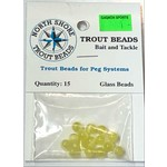 North Shore Tackle Glass Beads 6mm Glass Golden Yolk