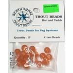 North Shore Tackle Glass Beads 8mm Glass Orange Yolk