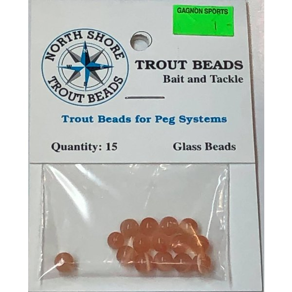 North Shore Tackle Glass Beads 6mm Glass Peach Yolk