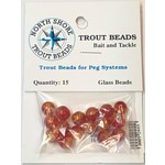 North Shore North Shore Tackle Glass Beads 8mm Glass Transparent Golden Red