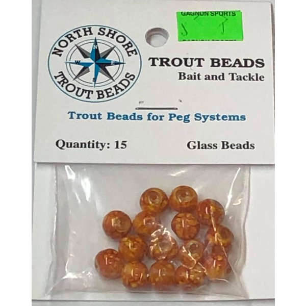 North Shore North Shore Tackle Glass Beads 8mm Glass Brown Swirl Tan