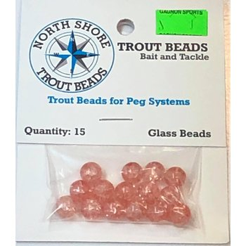 North Shore North Shore Tackle Glass Beads 8mm Glass Pink Crackle