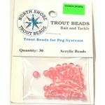 North Shore Tackle Acrylic Beads 6mm Pink Yolk
