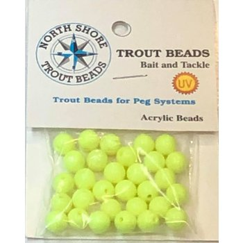 North Shore Tackle Acrylic Beads 8mm Chartreuse