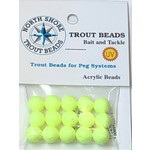 North Shore Tackle Acrylic Beads 10mm Chartreuse