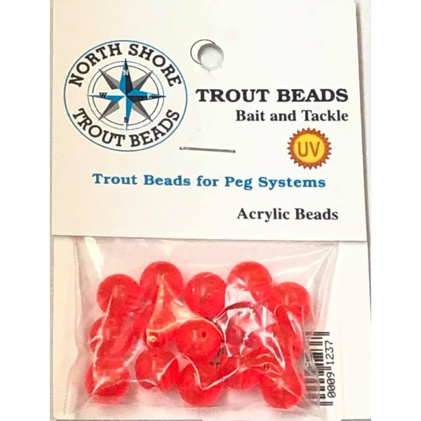 North Shore North Shore Tackle Acrylic Beads 10mm West Coast Red