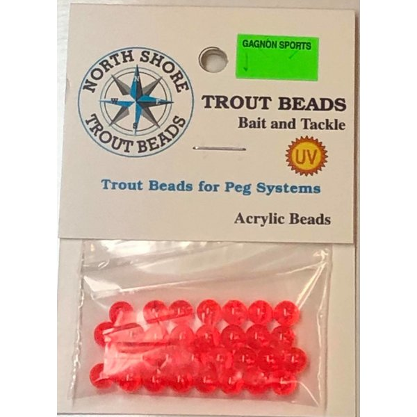 North Shore Tackle Acrylic Beads 6mm West Coast Red