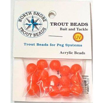 North Shore Tackle Acrylic Beads 10mm Orange