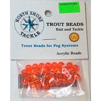 North Shore Tackle Acrylic Beads 6mm Peach