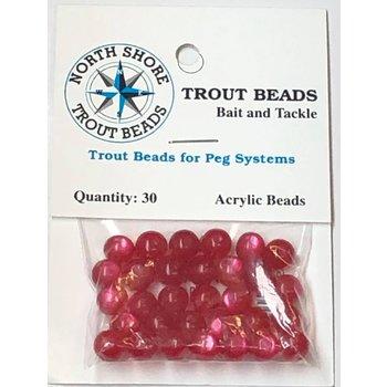 North Shore Tackle Acrylic Beads 8mm Wine Yolk