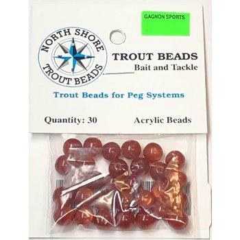 North Shore Tackle Acrylic Beads 8mm Brown Yolk