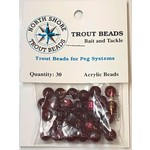 North Shore Tackle Acrylic Beads 8mm Brown Cherry