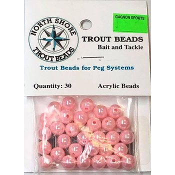 North Shore Tackle Acrylic Beads 8mm Pink Pearl