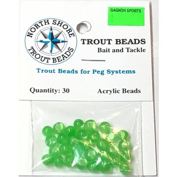 North Shore Tackle Acrylic Beads 6mm Lime Yolk