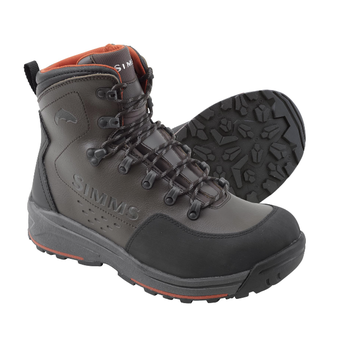Simms Freestone Boots Rubber Sole, Dark Olive, 9