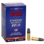CCI CI 22 Long Rifle Standard Velocity Lead Round Nose 40gr 1070fps Per 500