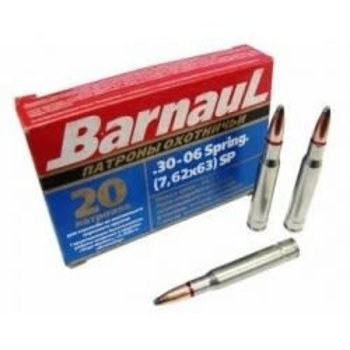 Barnaul 30-06 SPRG 168 Gr, SP, 20 Rds Ammunition