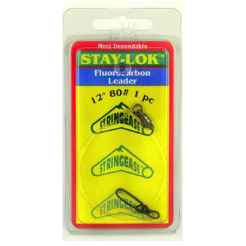 """Stringease Stay-Lok Fluorocarbon Leader 80lb 18"""" 1-pk"""