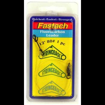 "Stringease Fastach Fluorocarbon Leader 130lb 12"" 1-pk"
