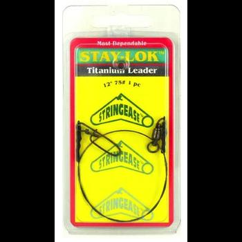 """Stringease Stay-Lok Titanium Leader 75lb 12"""" 1-pk"""