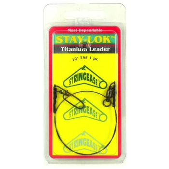 "Stringease Stay-Lok Titanium Leader 50lb 12"" 1-pk"