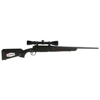 """Savage Axis XP Bolt Action Rifle .243 Winchester 22"""" Barrel 4 Rounds Detachable Box Magazine Weaver 3-9x40 Riflescope Synthetic Stock Matte Black Finish"""